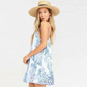 Show me Your Mumu Blue Paisley Shift Dress